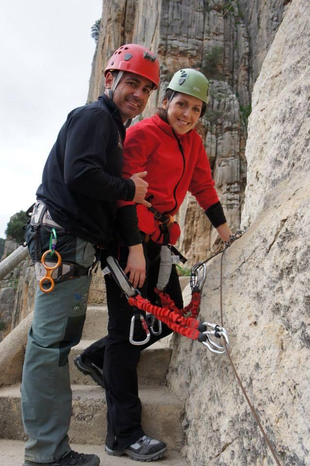 La Diputada de Medio Ambiente de Málaga en el Caminito de Rey